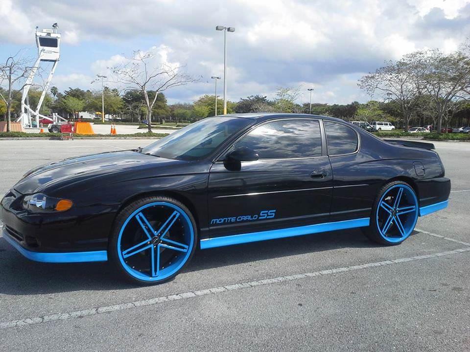 Chevy Monte Carlo ss on 22 inch Irocs - Big Rims - Custom Wheels