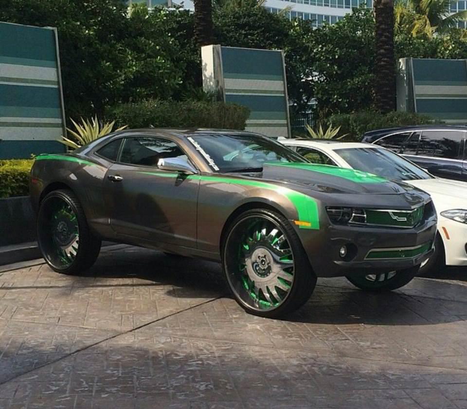 30 Inch Rims On Chevy : Chevrolet camaro on inch forgiato s big rims custom